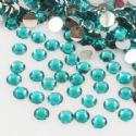 Jewel Embellishments, Resin, Turquoise colour, Faceted Discs, 4 x 4 x 1.2mm, 300 pieces, (ZSS065)